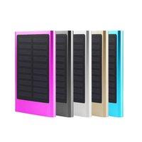 banco de energía para teléfonos celulares al por mayor-Cargador de batería externo portátil ultrafino del banco de energía solar 6000mAh para el teléfono elegante del teléfono celular # 88246