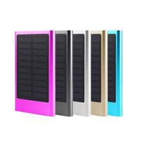 Wholesale External Battery For Smart Phone - Ultrathin Solar Power Bank 6000mAh Portable External Battery Charger For Cellphone Smart Phone #88246