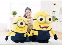 Wholesale Despicable Minions Valentine - Hot High quality 39''   100cm Cute Giant Plush 3D Despicable Me Minion Toy, gift Birthday Gifts Valentine Day