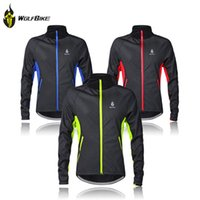 Wholesale outer clothing - Wholesale-Winter Thermal Fleece Cycling Jersey Long Sleeve Cycling Clothing Windproof Warm Mountain Road Bicycle Bike Outer Wear G2016