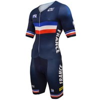 Wholesale Men Cycling Skinsuit - MEN'S CYCLING WEAR CYCLING JERSEY SKINSUIT 2016 FRANCE NATIONAL TEAM BLUE SIZE: XS-4XL