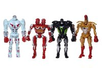 Wholesale Real Steel Midas - real steel toys 8pcs lot Action Figure Real Steel Toys Atom Movie Zeus Twin Cities Midas Robot PVC 13cm gift doll Model Anime