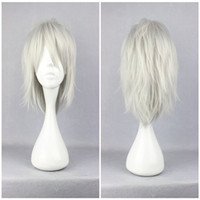 Wholesale Mans Synthetic Wigs - Fashion Male Dramatical Murder Dmmd Clear Silvery Grey 35cm Short Cosplay Wig Man Synthetic Hair Wig
