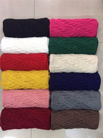 Wholesale Cotton Circle Scarf - Wholesle Women Scarf Winter Thick Ribbed Knitted Winter Infinity Circle Loop Scarf Warm Ring Scarves 12colors