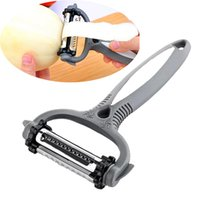 картофельный овощ оптовых-Многофункциональный 360 градусов вращающийся морковь картофелечистка дыня гаджет овощной фрукты репа Slicer резак кухня Cookig инструменты