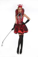 Wholesale Sexy Poker - Halloween Party Women Sexy Mini Dress Casino Poker Queen's Playing Card Fancy Dress Wear Outfit