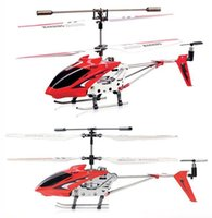 Wholesale Toy Helicopters Yellow Plastic - Popular Original Syma S107G 3CH Remote Control Helicopter Alloy Copter with Gyroscope Best Toys Gift RTF Oversea Warehouse
