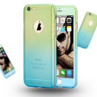 Wholesale Cover Follows - New Mobile Phones Accessories Iphone 5se 6s 6plus Shell & Samsung Cover Gradient Following From 360 Degrees Full PC Cladding Cases Wholesale