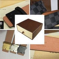 Wholesale Genuine Leather Clothes - 2017 High quality clothing brand leisure belt new fashion luxury brand designer men women leather gold silver black buckle belt + box