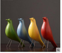 Wholesale Wood Carving China - Home Furnishing gifts Eames minimalist fashion soft-loading bird decoration creative arts and crafts black and white