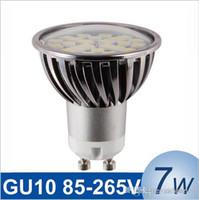 Wholesale High Intensity White Led Bulb - New dimmable GU10 7W LED Spotlight SMD5050 85-265V High Intensity Alamium LED Lamp Bulb Spot Light epistar chip