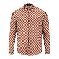 Wholesale Mens Autumn Plaid Shirt - New Autumn Fashion Italy Luxury Brand Men Clothes Mens Designer Long Sleeve Shirts Medusa Plaid print Shirts Men Casual Business Shirts 3xl
