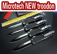 Wholesale Self Factory - Factory direct Microtech knife NEW troodon A07 knives camping survival knife Aviation aluminum handle 440 blade EPacket free shipping