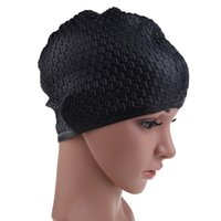 Wholesale Wholesale Dove Hats - Silicone Swimming Cap Waterproof Waterdrop Cover Anti-skid Diving Swimming Hat for Women and Men Environmental Health