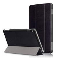 Wholesale huawei tablet accessories - Business Leather Case for 10.1'' Huawei MediaPad M3 Lite 10 BAH-W09 BAH-AL00 Tablet Folding Stand Protective Slim Cover