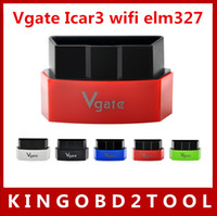Wholesale Original Obd Bmw - 2016 New Arrival original Vgate iCar3 Vgate icar 3 Wifi ELM327 OBD OBDII OBD2 icar3 elm327 wifi For Android  IOS PC free shipping