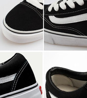 Wholesale Van Leather - 2017 old skool Canvas Men women casual shoes sneakers Unisex Brand shoes casual Flats for men women zapatillas trainers Van