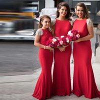 Wholesale Long Fashionable Party Dresses - 2017 Long Bridesmaid Dresses Fashionable Sparkly Beaded Short Sleeves Mermaid Bridesmaid Gowns Formal Wedding Party Gowns