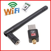 Wholesale Software Driver Wholesale - Mini USB Wifi Adapter Receiver 150Mbps 300Mbps USB 2.0 WiFi Wireless Network Card 802.11 n g b LAN Adapter With Antenna Software Driver