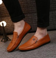 Wholesale Hard Drive Cheap - Men Driving Lightweight Mens Slip-on Doug Low Soft Leather Shoes High Quality Cheap Brand Shoes Free Shipping
