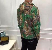 Wholesale Tiger Jumpsuit Woman - 2018 Fashion Casual Outdoor Tiger Jungle Jacket Autumn Sunproof Waterproof Men Women Luxury Zipper Anti UV Sports Skin Coat men jumpsuits