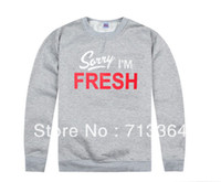 Wholesale Sorry Fresh - 2017 new arrival Sorry I am fresh popular sweatshirts autumn and winter men head of hip hop 100% cotton plus size xxl o-neck 100% cotton