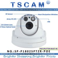 TSCAM novo SP-P1802SPTZR-POE ONVIF PTZ Câmara Dome POE Full HD 1080P 2.0MP com Zoom PIR Micro SD / TF Card Slot