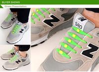 Wholesale Gadget Shoes - 12pcs box new funny gadgets convenient lock colorful elastic no tie silicone shoelaces lazy shoe laces for sneaker