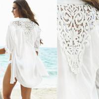 83a058df59a68 2016 Fashion Swimwear Bikini Beach Cover Up Women, Crochet Swimsuit Cover  Up Beach Wear, White Chiffon Bathing Suit Cover Ups 9006