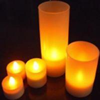 ingrosso candele decorative a batteria-LED Flicker VotiveTea light Candles Tè senza fiamma Luce sostituibile Battery Operated Look Like Real Flicker Candles