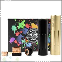 Wholesale copper electronics mods online - Newest The Hitman Mod Mechanical Mod Clone Electronic Cigarette fit Battery Copper or Brass Material by Made Man Mods DHL Free