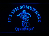 Wholesale Neon Bar Sign Captain Morgan - 467 IT's 5 pm Somewhere Captain Morgan LED Neon Sign Wholesale Dropshipping dropship music sign hanger