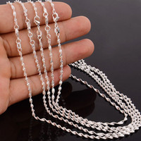 "Wholesale Sterling Silver Wave Chains - 10pcs Water Waves Chains 1.2mm 925 Sterling Silver Necklace Chains 16""-30"" SH5"