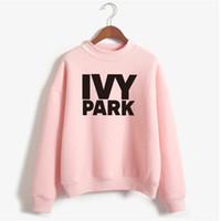 шейка бейонсе оптовых-Wholesale- Beyonce IVY PARK Sweatshirt Winter Women 2017 Womens Sweatshirts Hoodies Long Sleeve Fleece Print Tracksuit Hoodies NSW-20003