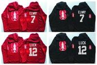 Wholesale Men S White Sleeveless Jacket - 12 Andrew Luck 7 John Elway Stanford Cardinals Hockey Hoodies GRAY Red Black Hoodie Hooded Sweatshirt Jackets