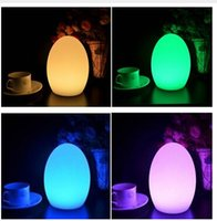E27 Yes DC Free Shipping Colorful LED Egg bar table lamp Break-resistant, rechargeable LED glowing lighted egg night light for Christmas