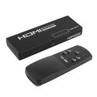 selector hdmi al por mayor-HUIYISHUN YS-199 YS199 5 puertos 1 x 5 Conmutador HDMI Selector Switcher Splitter Hub para HDTV con 3D remoto V1.4 5 puertos en 1 puerto de salida