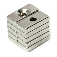 Wholesale Neodymium Magnets Holes - 10pcs N52 20x10x4mm Strong Magnets 4mm Hole Rare Earth Neodymium Magnets