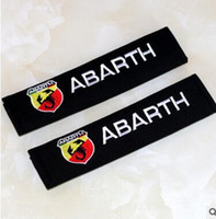 Wholesale Fiat Punto - Seat Belt Cover Pure Cotton Car Styling Case For Fiat 500 Abarth Punto 124 125 500 695 OT2000 Accessories Car-Styling 2pcs lot