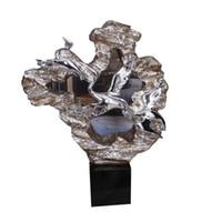 escritorio popular al por mayor-Chapado en plata Escultura Artesanía Arte Mobiliario Suave Estatua Decoración Escultura Artesanía con resina Fibra de vidrio para Villa Decoración
