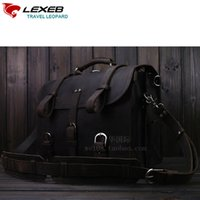 Atacado- LEXEB Brand Men's Vintage Classic Briefcase Genuine Natural Leather Business Travel Bags 15.6 Inch Laptop Bag Luxury Design Dark