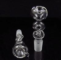 drehrohr großhandel-Spirale Twisted Twist Glasschale Rutsche Rauchende Rauch Wasser Rohr Bong Aschenfänger Bubbler kostenloser Versand 14mm und 19MM