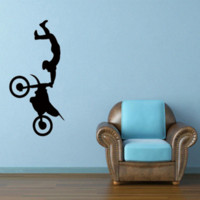 Wholesale Freestyle Bikes - 58cm x 30.7cm Freestyle Motocross Bike Motorcycle Sport Car Sticker For Cars Side, Truck Window ,Auto Door Vinyl Decal 8 Colors