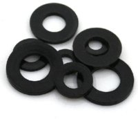 black nylon washer - 200 Nylon M8 Washer mm x16mm x1 mm thickness w74 x16x1 black Nuts amp Bolts