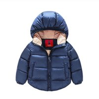 Wholesale Warm Baby Snowsuit - 7-24months Winter Newborn Baby Snowsuit Cotton Girls Coats And Jackets Baby Warm Overall Kids Boy Jackets Outerwear Clothes