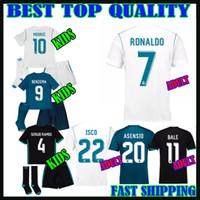 Wholesale Ronaldo Kids Jersey - 17 18 real madrid kids kit JERSEYS SOCCER ASENSIO ronaldo 2017 2018 camiseta de fútbol bale MODRIC adult SERGIO RAMOS child FOOTBALL SHIRTS
