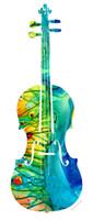 decoraciones de violín al por mayor-Giclee colorido Violín Abstracto Arte Por Sharon Cummings Impresión de la Lona pintura al óleo artes pared decoración