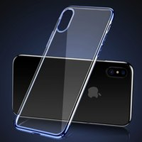 Pour Baseus iphone X Case Ultra mince Clear Hard PC Plating Coques de couverture pour iPhone X