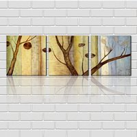 Wholesale unframed Pieces picture Canvas Prints Imitation hand drawn Abstract oil painting branch leaf flower