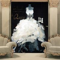 elbise yatak odası toptan satış-Özel 3D Duvar Kağıdı Gelinlik Duvar resmi Vintage fotoğraf kağıdı Koridor Yatak Odası Otel TV Zemin Duvar Kağıdı Gelin Dükkanı Odası dekor